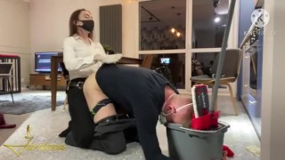 Congratulated with head in the bucket- full clip on my Onlyfans (link in bio)