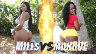 BANGBROS - Battle Of The GOATs: Moriah Mills VS Diamond Monroe
