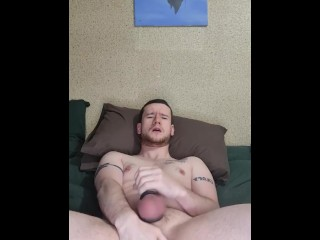 Jerking off with my new cock rings