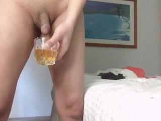 Wash pee 3 times glass...