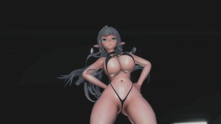 mmd r18 Eunice sexy elf beg for you not to cum for her sameless erotic dance 3d hentai fap challenge