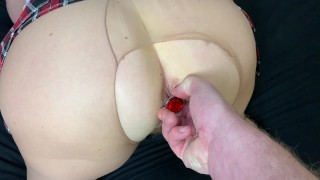 Filthy Mature Stepmom in pantyhose and skirt has private lessons in fucking Part 2