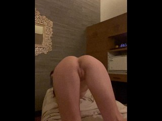 fit girl and big round ass Divina flares her pussy at the camera after her massage