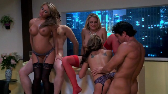 Three Busty MILFs Having Orgy in A House Party Event 8