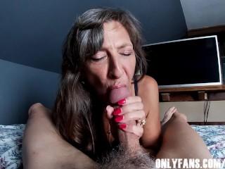 Sexy Granny Big Cock Blowjob POV Compilation best real porn