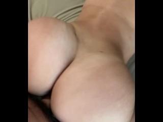 Butt bounce while riding cock latina...