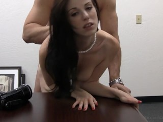 Rookie coed kara takes a mouth pussy debut...