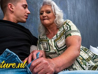 Hairy granny juliene is begging for a creampie...
