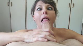 Deepthroating A Cock Cross Eyed - short version Anati Brown