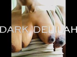 Big dark nipple play...