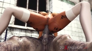 Super hot sexy college girl gets fucked hard by an Evil clown in an abandoned hospital