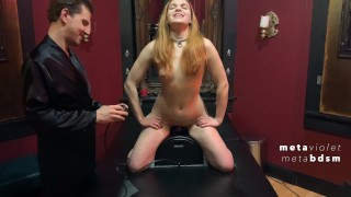 Dungeon Honeymoon: Violet's First Ever Sybian Ride