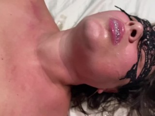 Squirt wife got mouth spit and got an...