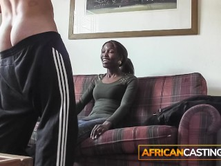African model gets her facial cum skin care...