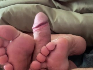 Granny ann almost gets caught in footjob...