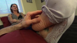 My Neighbour let's me Worship her Soft Sexy Soles! 1080p HD PREVIEW
