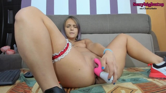 Sexybigbut19 squirting orgasm with nora 14