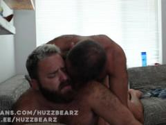 Huzzbearz hand job turns into passionate bareback fucking