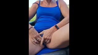 Risky Outdoors Wank - Nearly Caught - Horny British MILF Can't Wait To Cum