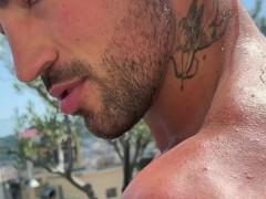 Straight Spanish pornstar teasing