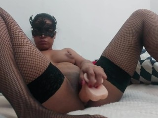 Fucking by dildo to strong Orgasm . Latina Teen Abby.