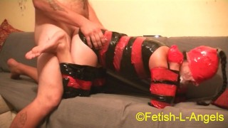 BDSM, Safe and Voluntary, Training for Plastic Bondage Sex Slave Girl