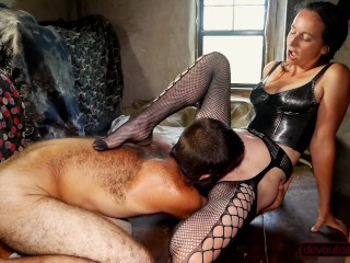 In slut wear pussy licks extreme tit squeezes...