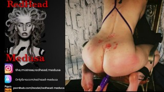 Medusa Squirts while her Big Ass is Covered in Oil & Hot Wax - Visit OnlyFans for Full Video