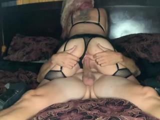 Amazing real sex rides cock explosive facial...