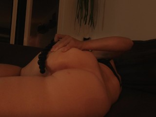 Anal playing with toy until orgasm when my...
