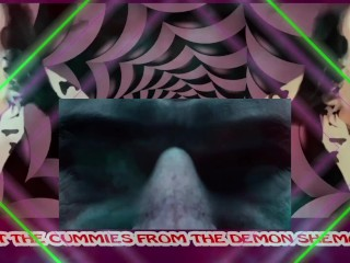 The demon shemale teaches to eat your cum...