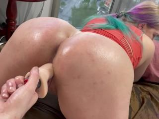 Hard fucked his sexy neighbor in an oily...