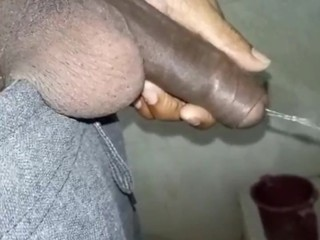 Indian masturbation after pissing...