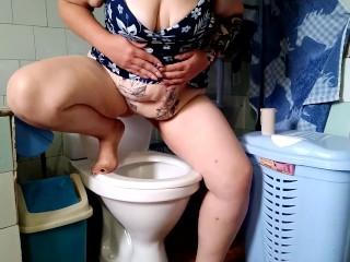 Russian mom ass pee desperation...