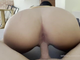 He loves the way my pussy creams all over his cock