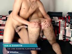Ian and Dannym on Flirt4Free - Two Studs with Huge Cocks Suck and Bareback