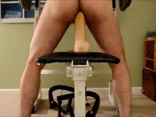 Doc johnson hung dildo in my ass huge...