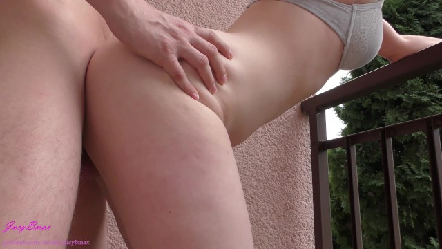 Public sex on the balcony of the house 1