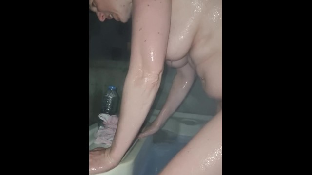 Mom naked in hot tub with step son 15