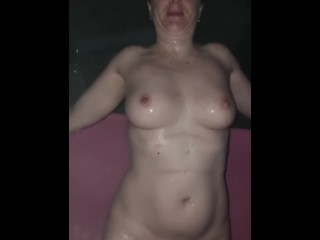 Mom hot tub with step son...