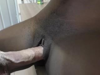 Cock inflates tiny prior to cum inside...