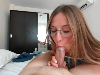 Perfect tits are shaking from passionate sex in the morning with a neighbor