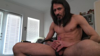 Office chair bdsm self restraint male masturbation