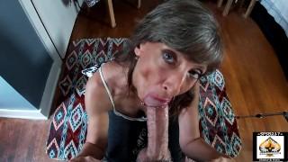 Amateur GILF MILF Passionately Sucks BWC She Swallows