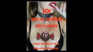 Instruction à la branlette pour la rentrée des classes - JOI- FK2