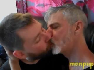 Kissing and daddy kaleb dewulf richard lennox manpuppy...