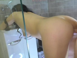 Milf went shower and engaged sex...