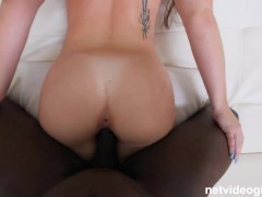 Insanely hot girl so turned on by a BBC she cheats on her boyfriend during her casting!