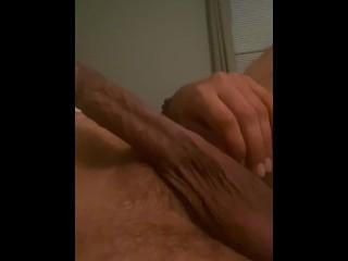 Gay guy touching his penis...