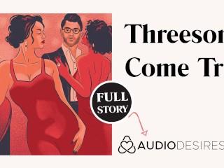Spontaneous threesome erotic audio story in public asmr...